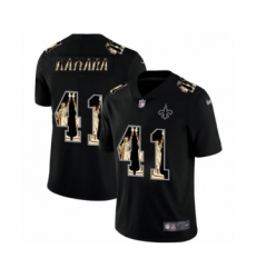 Men's New Orleans Saints #41 Alvin Kamara statue of liberty black jersey