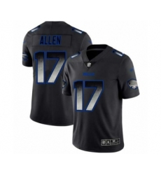 Men's Buffalo Bills #17 Josh Allen Limited Black Smoke Fashion Football Jersey