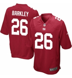 Men's Nike New York Giants #26 Saquon Barkley Game Red Alternate NFL Jersey