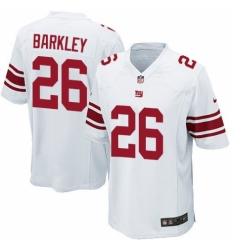 Men's Nike New York Giants #26 Saquon Barkley Game White NFL Jersey