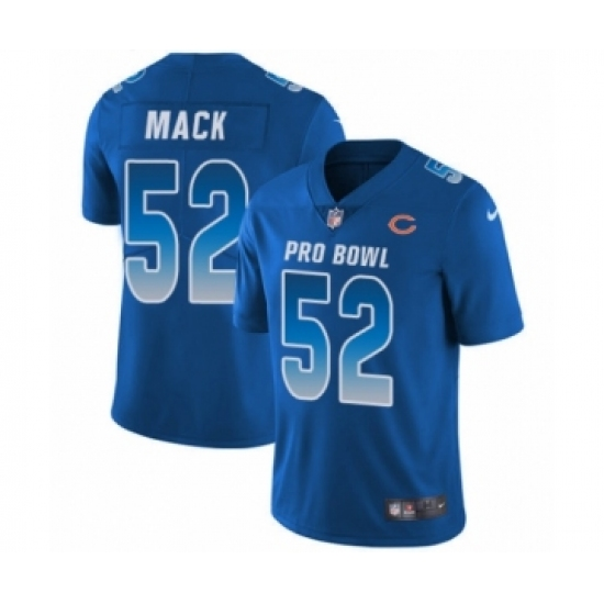 1e062b781 Men s Nike Chicago Bears  52 Khalil Mack Limited Royal Blue NFC 2019 Pro  Bowl NFL