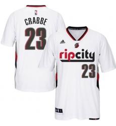 151a74d8d Portland Trail Blazers  23 Allen Crabbe Swingman Rip City Pride White Short  Sleeve Jersey