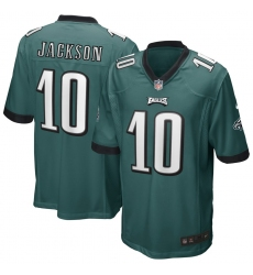 Men's Philadelphia Eagles #10 DeSean Jackson Midnight Green Nike Game Jersey