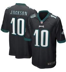 Men's Philadelphia Eagles #10 DeSean Jackson Nike Black Game Jersey