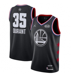 Men's Nike Golden State Warriors #35 Kevin Durant Black Basketball Jordan Swingman 2019 All-Star Game Jersey